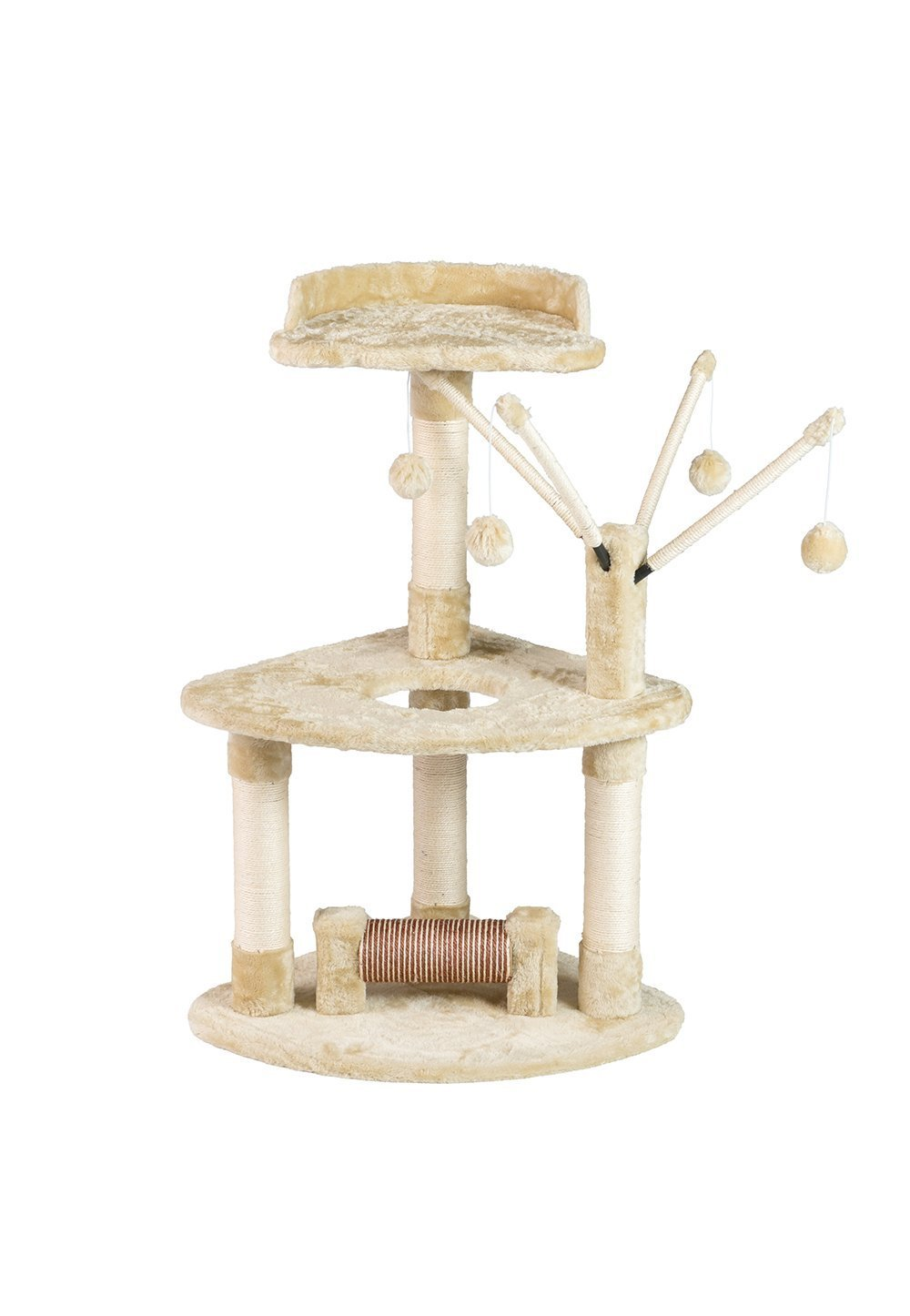 Buy-Hive Cat Tree Condo House Scratching Post Pet Kitten Play Tower w Hanging Toy by