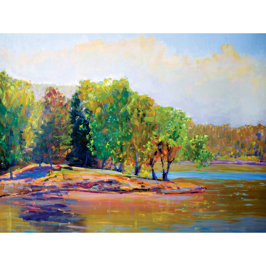 """Portfolio Canvas Decor """"Summer Trees"""" Framed and Stretched Large Wall Art"""