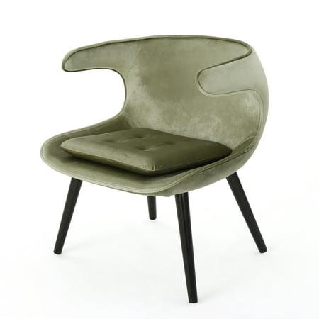 Cameron Mid Century Modern Velvet Accent Chair, (Chair Pistachio)