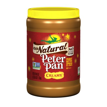 Peter Pan Natural Creamy Peanut Butter Spread, 40 - Halloween Food Spreads