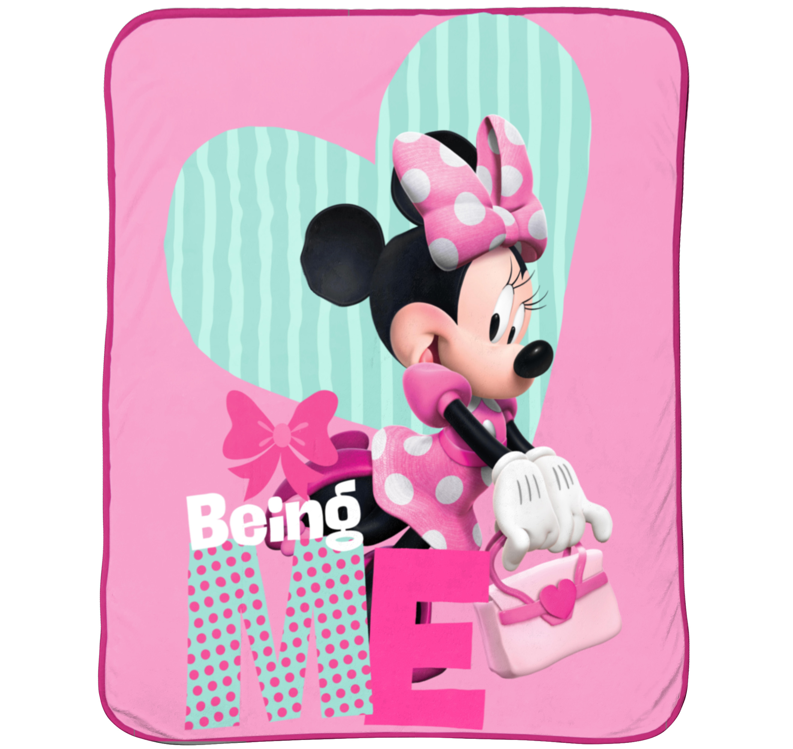 "Minnie Mouse 62"" x 90"" Plush Blanket, 1 Each"