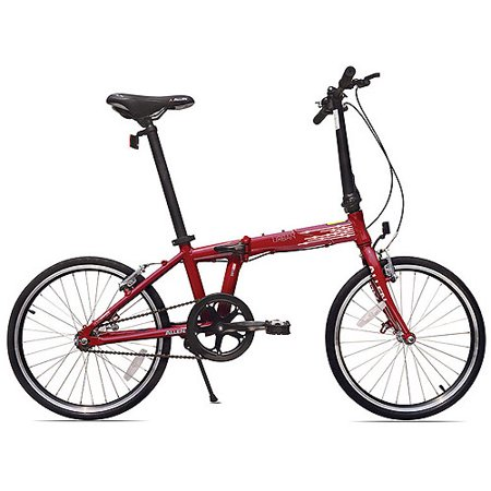 Allen Sports Urban 1-Speed Aluminum Folding Bicycle, Red