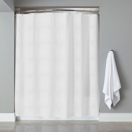 Embossed Fabric Shower Curtain/Liner Heartwood Hotel Collection 70