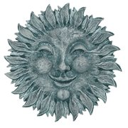 Weather Resistant Sun Face Plaque (Moss)