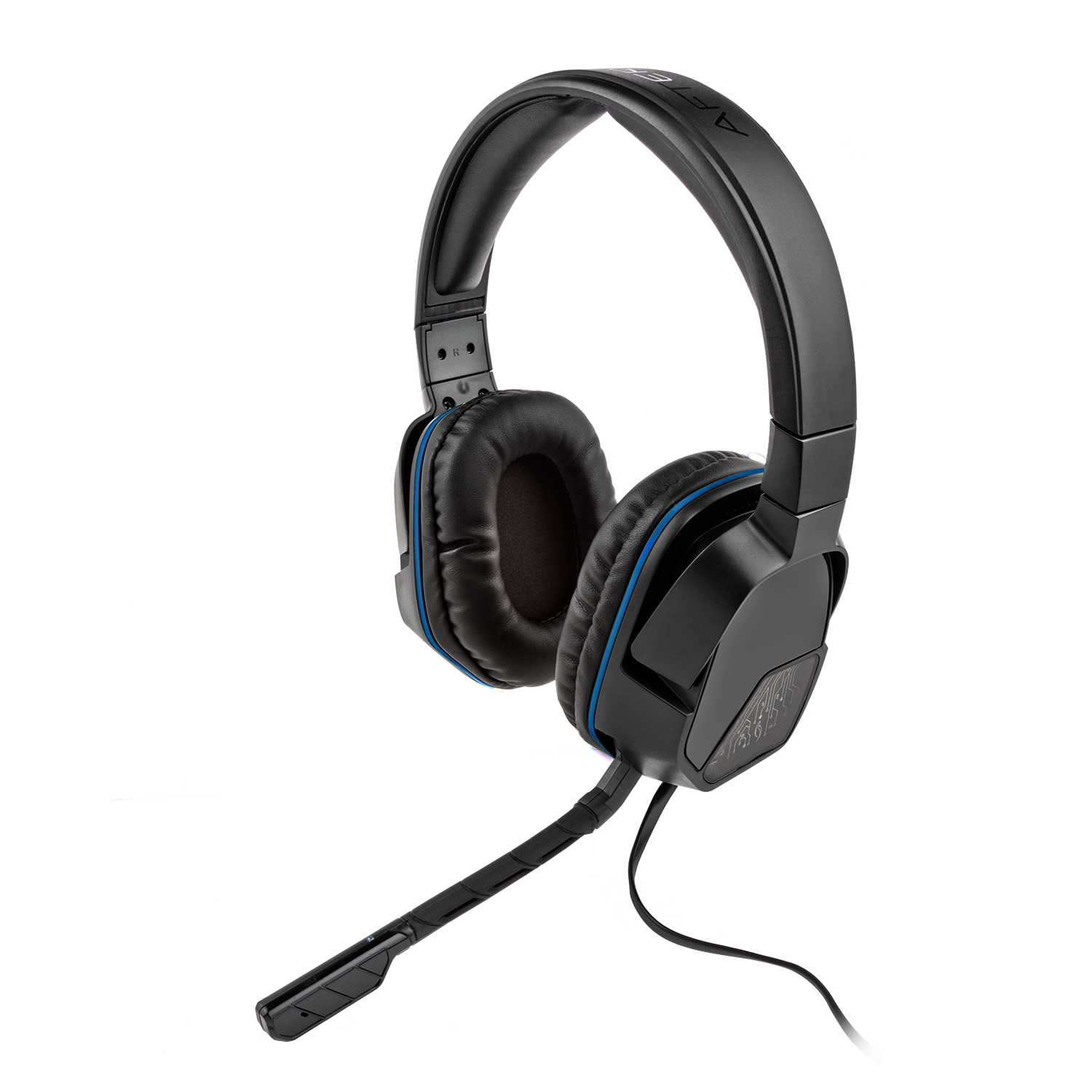 PDP Afterglow PS4 LVL 3 Stereo Gaming Headset, Black, 051-032