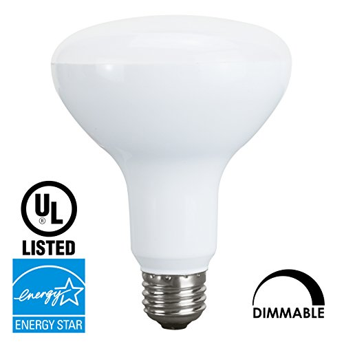 Luxrite LR31814 LED10BR30/R30 10-Watt LED BR30 Flood Light Bulb, Equivalent to 65W, Dimmable, Bright White 5000K, 650 Lumens, E26 standard base, UL Listed and Energy Star Qualified, 1-Pack