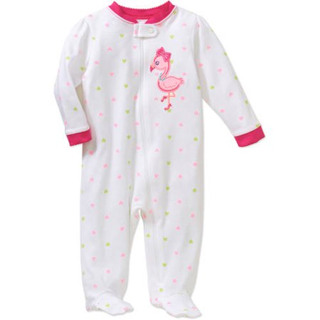 2279fb1f4 Garanimals - Newborn Baby Girl Cotton Sleep n' Play - Walmart.com