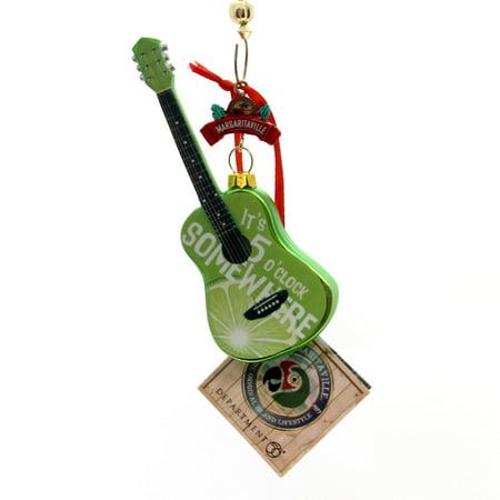 Holiday Ornaments MARGARITAVILLE GUITAR Glass 5 O'clock Somewhere 4058595 - Guitar Ornaments