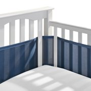 BreathableBaby Classic Breathable Baby Mesh Crib Liner, Anti-Bumper, Non-Padded – True Navy