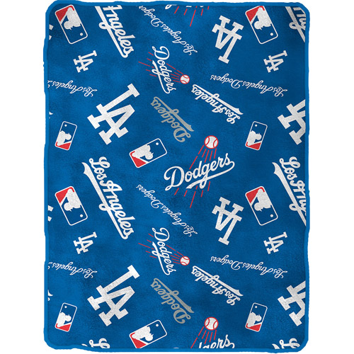 "Dodgers Royal Plush 50"" x 60"" Throw"