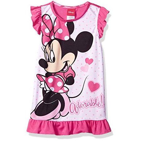 Disney Girls' Minnie Mouse Nightgown, Sweet/Simple, Size: 3T - Disney Princess Dressing Gowns