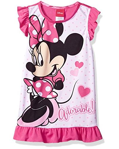 Disney Girls' Minnie Mouse Nightgown, Sweet/Simple, Size: 3T