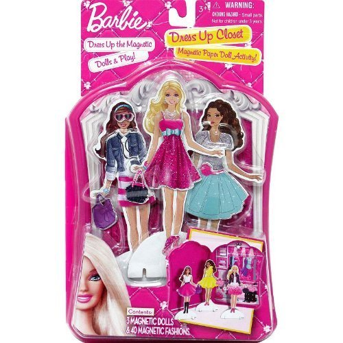 Barbie Dress Up Closet Magnetic Paper Doll Activity by, Product Dimensions: 7.1 x 5.9 x... by