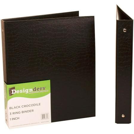 Crocodile Texture Base - JAM Paper Designders, Heavy Duty 3-Ring Binders, 1