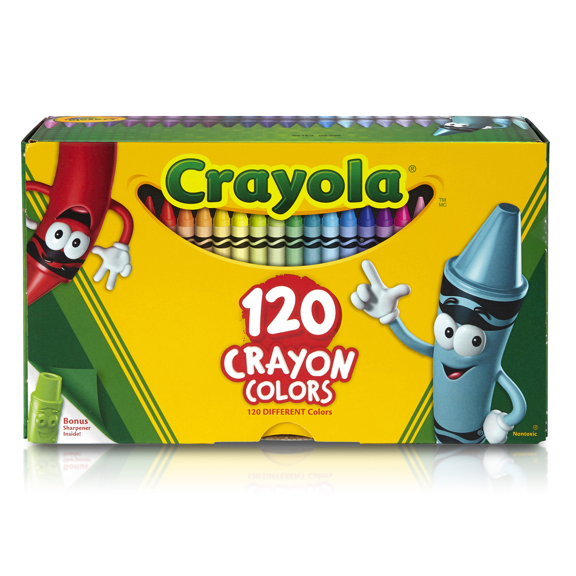 Crayola Classic Crayons 120 count with Tip Crayon Sharpener