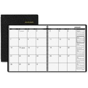 """AT-A-GLANCE Monthly Planner, 8-7/8"""" x 11"""", Black, 2017-2018"""