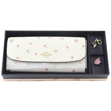Coach Butterfly Soft Wallet Charm in Coated Canvas