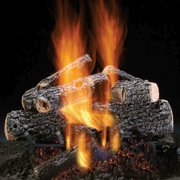 "Magnificent Charred Oak 18"" Gas Logs with Safety Pilot - NG"