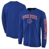 Boise State Broncos Fanatics Branded Distressed Arch Over Logo Long Sleeve Hit T-Shirt - Royal