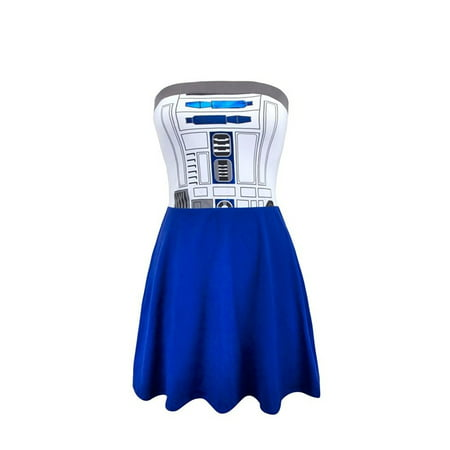 Star Wars R2D2 Juniors Costume Tube Dress - Diy R2d2 Costume