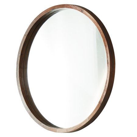 Accent Mirror Bathroom Decor, Round Wood Frame Mirror Canada