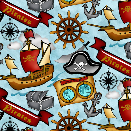 Springs Creative Novelty Ahoy Mate Fabric