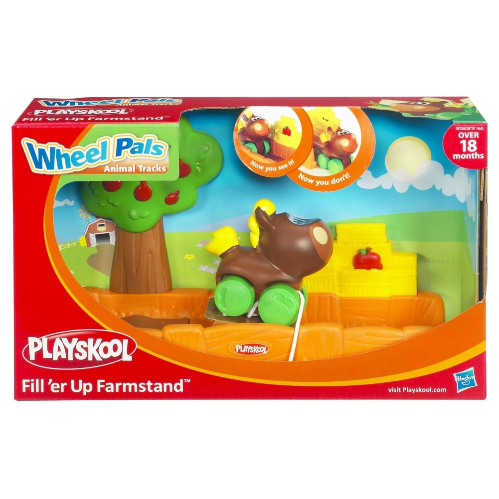Playskool Wheel Pals Animal Tracks Fill'er Up Farmstand with Horse by Playskool