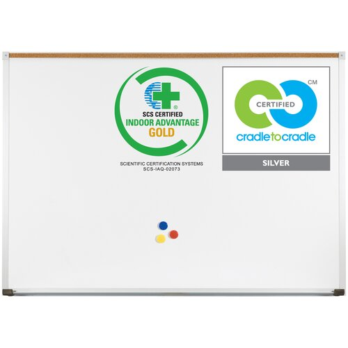 MooreCo Best-Rite  Green-Rite Deluxe Wall Mounted Whiteboard