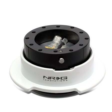 NRG Innovations SRK-250BK-WT Steering Wheel Quick Release Adapter Gen 2.5 Black Body/White Ring