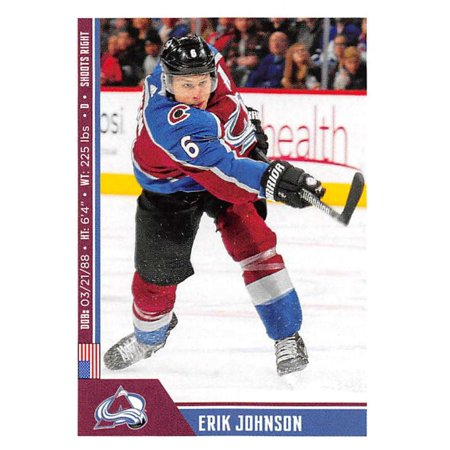 2018-19 Panini NHL Stickers #339 Erik Johnson Colorado Avalanche Hockey Card ()