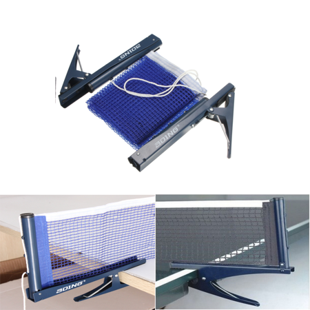 Table Tennis Net and Post Set, Ping Pong Post Clamp Stand Set Indoor Game Training Replacement Post (Best Portable Tennis Net)