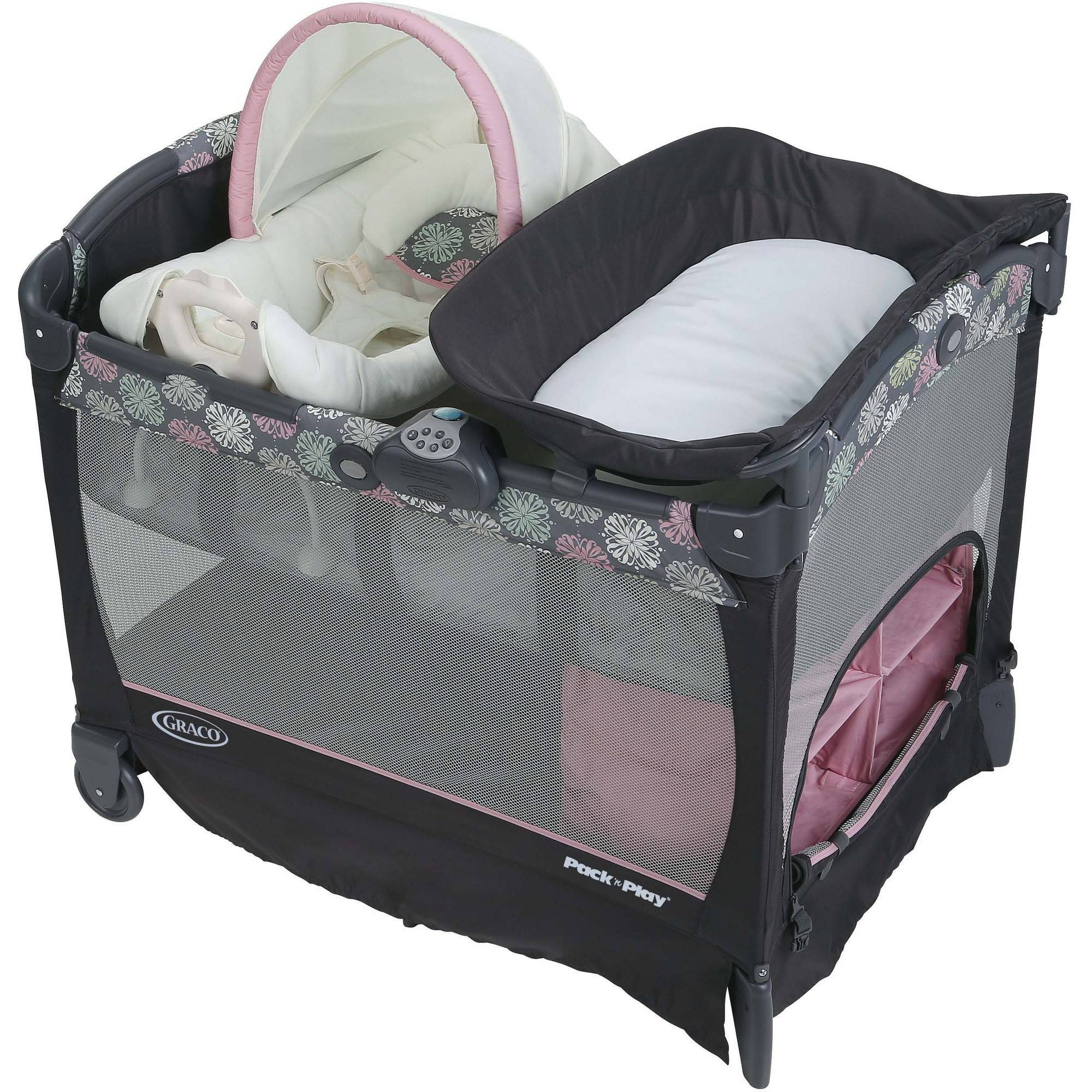 Graco Pack 'N Play Playard with Cuddle Cove Baby Seat, Addison