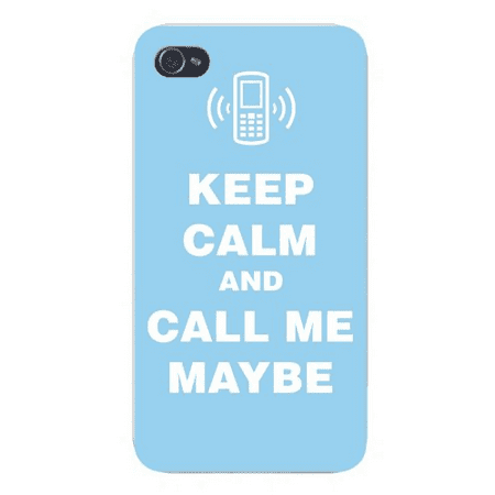 Keep Calm Call (Apple Iphone Custom Case 5 5s AND SE Snap on - Keep Calm and Call Me Maybe w/ Cell Phone Blue/White )