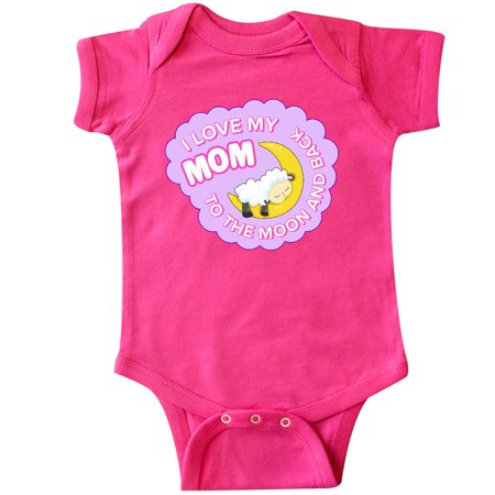 Inktastic I Love My Mom To The Moon And Back Cute Little Lamb Infant Creeper Day