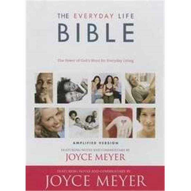 FaithWords-Hachette Book Group 112355 Amplified Everyday Life Bible - Black Bonded Leather