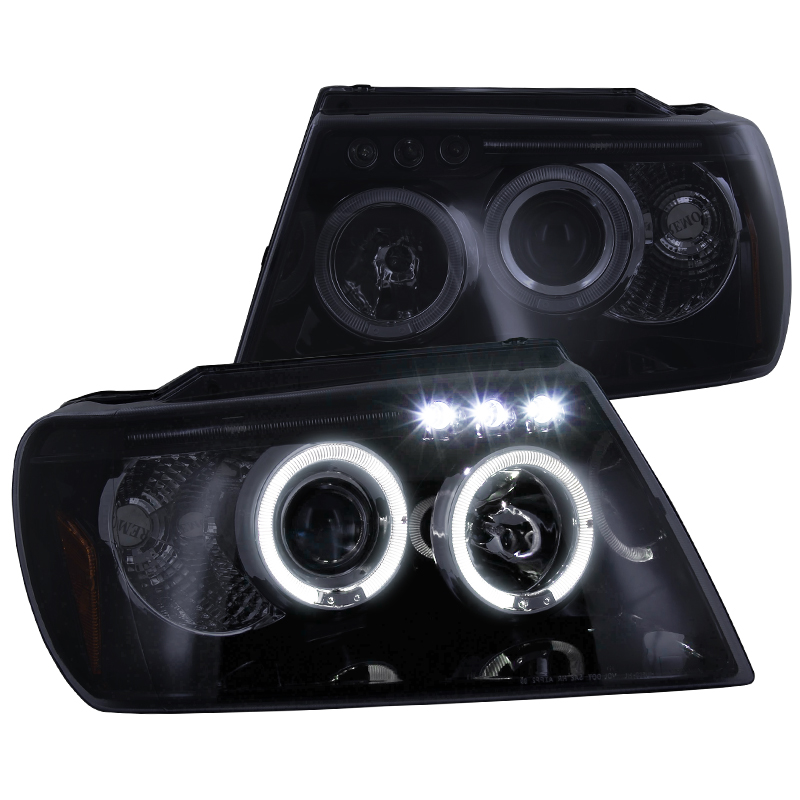 Spec-D Tuning 1999-2004 Grand Cherokee Halo Projector Led Headlights 99 00 01 02 03 04 (Left + Right)