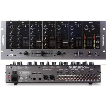 Numark C3usb Five-channel Rack Dj Mixer W/usb Input & Usb Output &  Three-band Eq