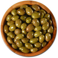 Deli Fresh Nafplion Green Olives, 8oz Dr.Wt.