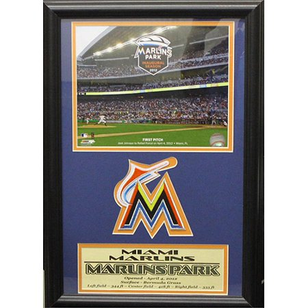 MLB Miami Marlins Patch Frame, 12x18 by