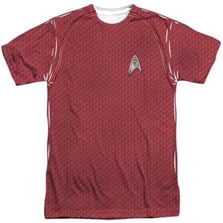 Star Trek Men's  Movie Engineering Uniform Sublimation T-shirt White - Star Trek Movie Uniforms