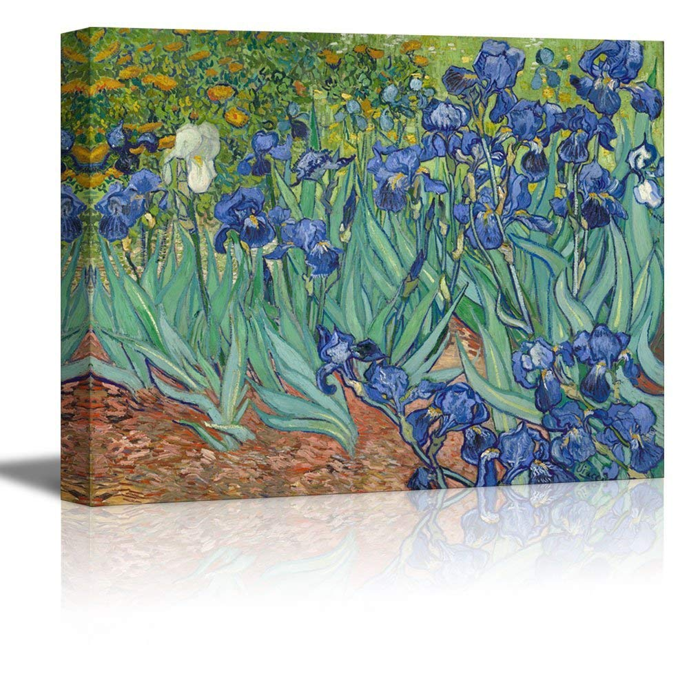 wall26 Irises by Vincent Van Gogh - Oil Painting Reproduction on Canvas Prints Wall Art, Ready to Hang - 12x18 inches
