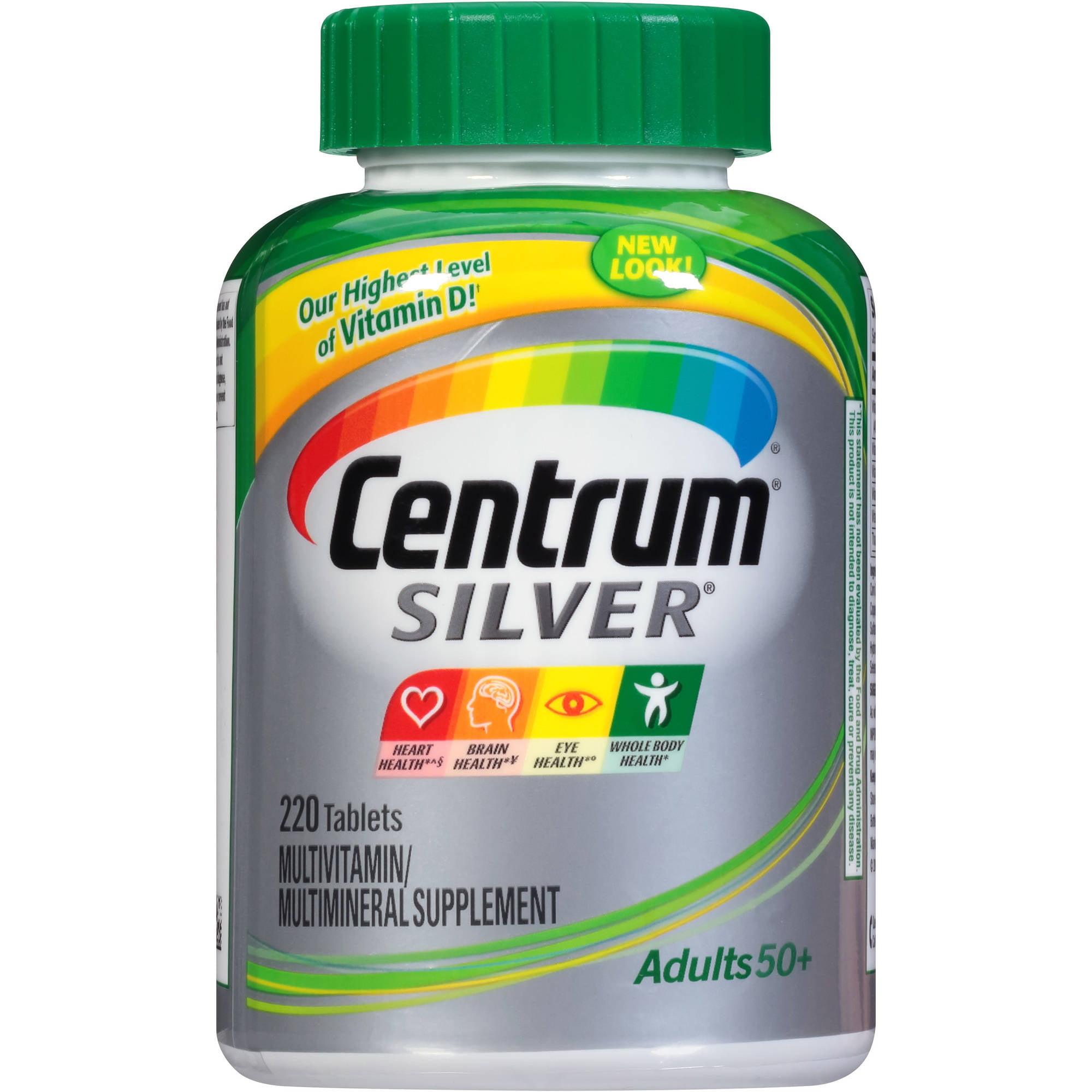 Centrum Silver Adult Multivitamin/Multimineral Supplement 220 Count