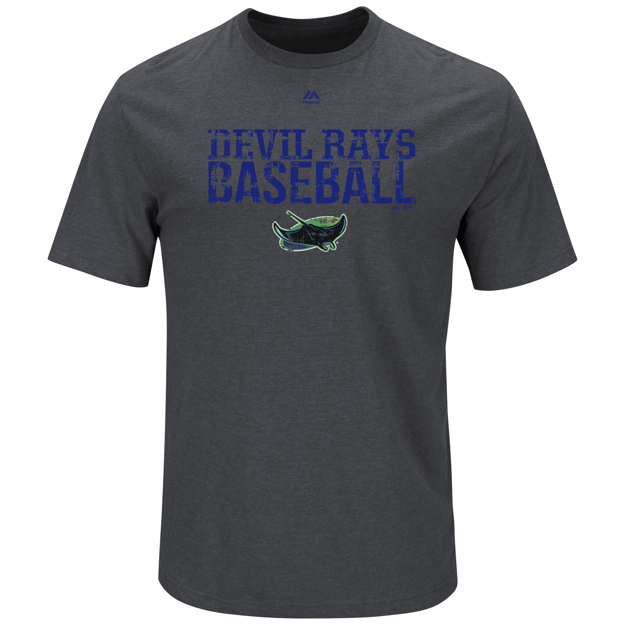 Tampa Bay Rays Majestic Cooperstown One Winner T-Shirt - Charcoal