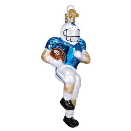Old Time Football Player - Football Player Handcrafted Hanging Tree Ornament, Old World Christmas By Old World Christmas