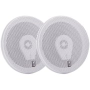 Set of 2 White MA8506W Round 3-Way Marine Speakers 14""