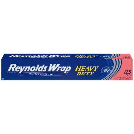- Reynolds Wrap Heavy Duty Aluminum Tin Foil, 125 Square Feet