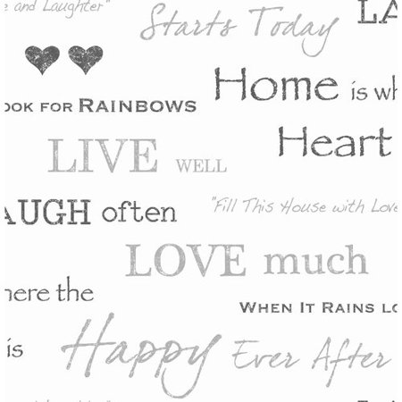 Fine Décor Happy Home Grey Text Wallpaper](Happy Halloween Wallpaper Cute)