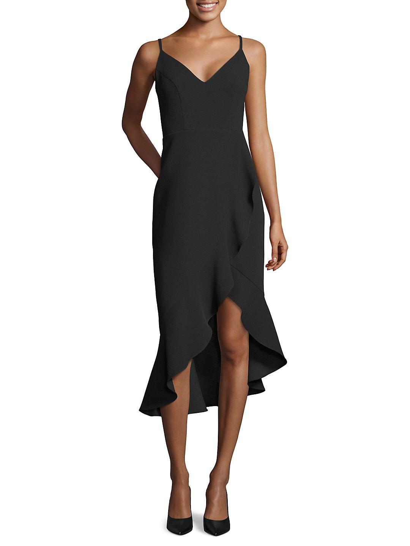 Sleeveless Ruffled Cocktail Dress