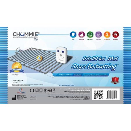 Chummie PRO Bedside Bedwetting Alarm for Children, Teens and Adults. Award Winning, Comfortable and Effective Bedwetting Treatment System with 8 Loud Sounds, Bright Lights and Strong Vibrations