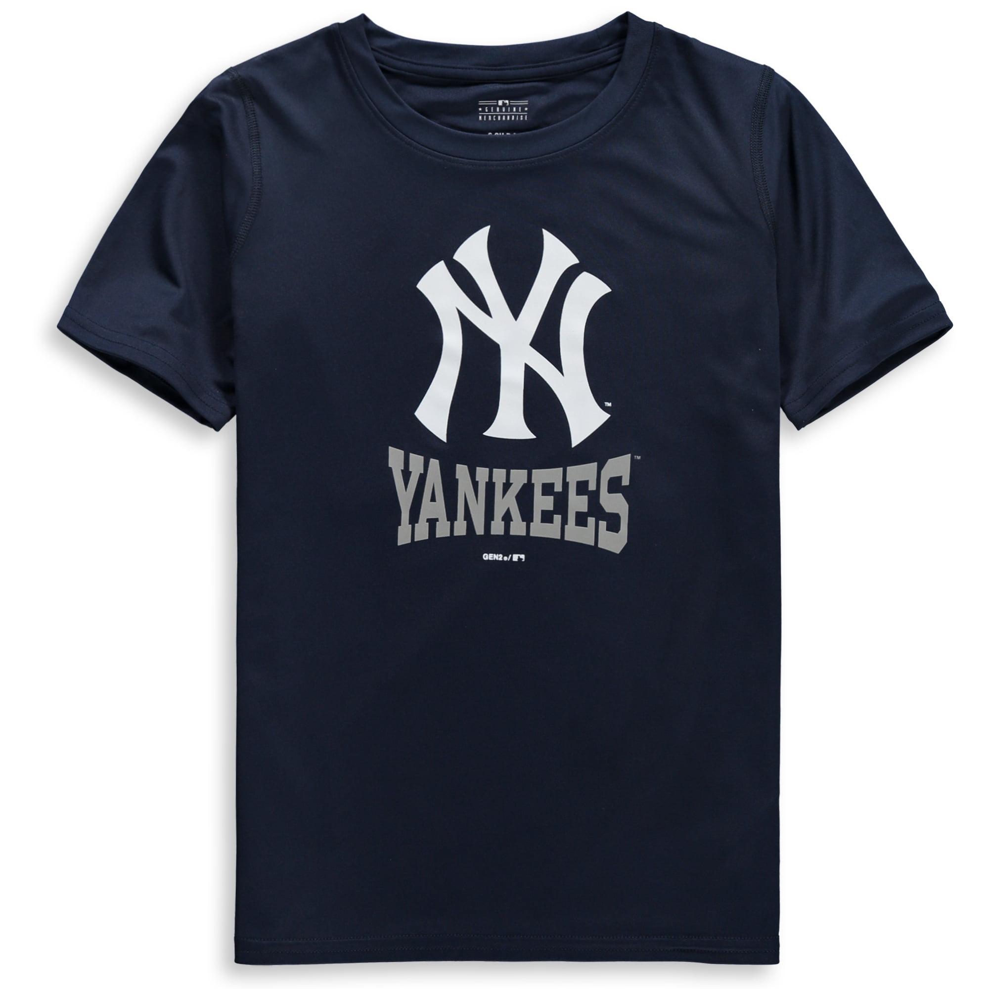 New York Yankees Youth Link Up Dri-Tek T-Shirt - Navy